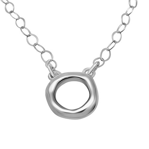 Organic Circle Necklace - Sterling Silver