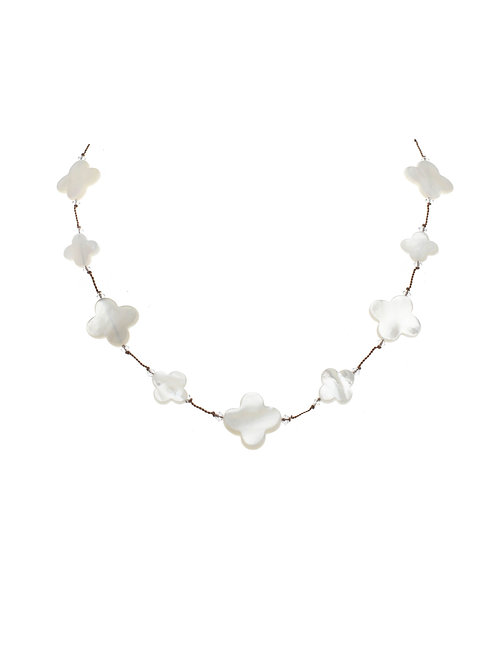 Margo Morrison - Mother of Pearl Clover Necklace