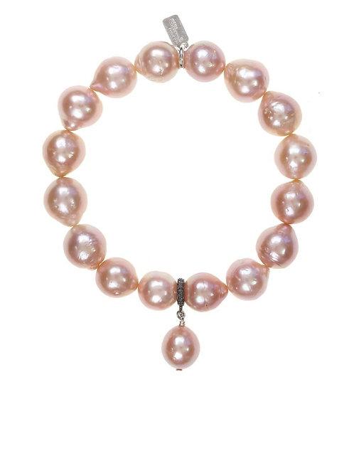 Pink Baroque Pearl Bracelet - Margo Morrison