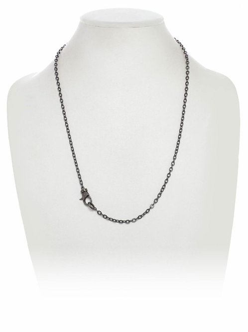 Rhodium Chain With Pave Diamond Clasp - Margo Morrison