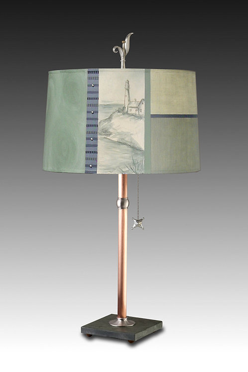 """Chatham"" Table Lamp - Copper & Slate"