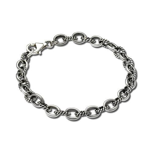 Twist Link Bracelet - Sterling Silver