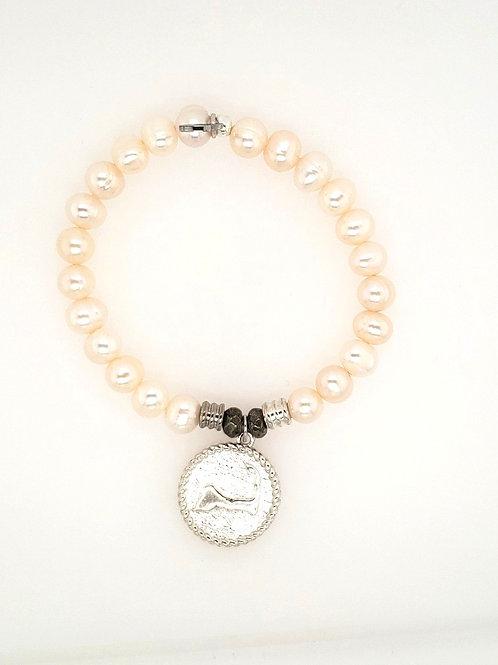 """Cape Cod"" Charm & Pearl Bracelet"