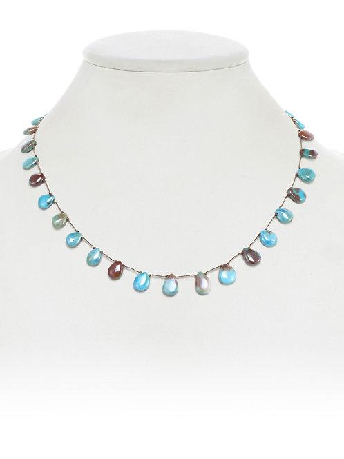 Turquoise Teardrop Necklace - Margo Morrison