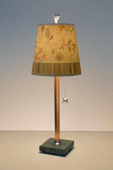 Small Table Lamp - Copper & Slate