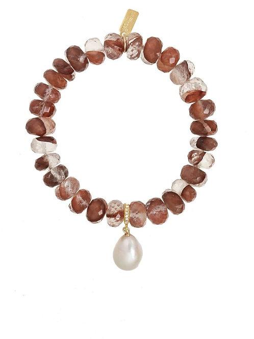 Copper Quartz & Baroque Pearl Bracelet - Margo Morrison