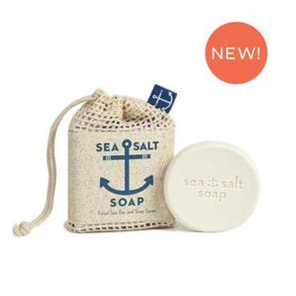 Sea Salt Travel Size Soap & Soap Saver