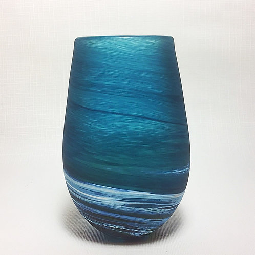 """Seascape"" Blown Glass Vase (Short)"