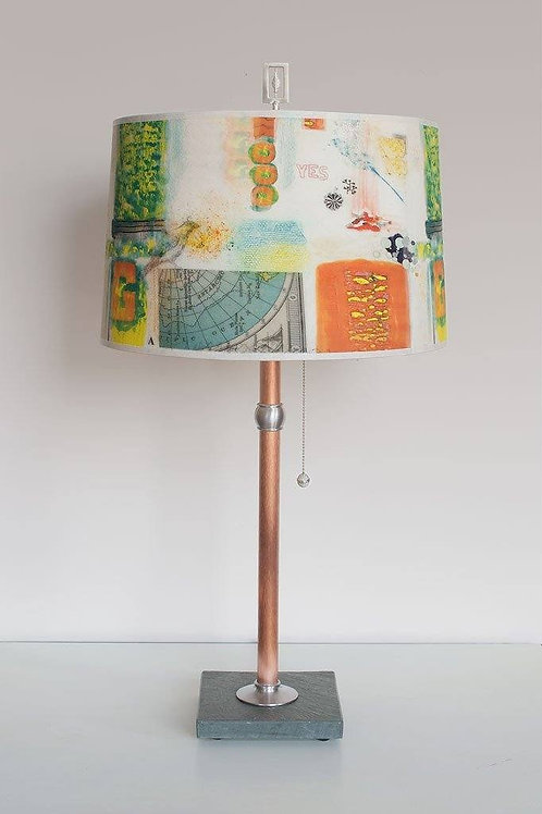 Copper Table Lamp - Drum Shade
