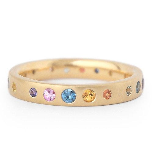 Anne Sportun - 18kt Gold & Multi-Color SapphireBand