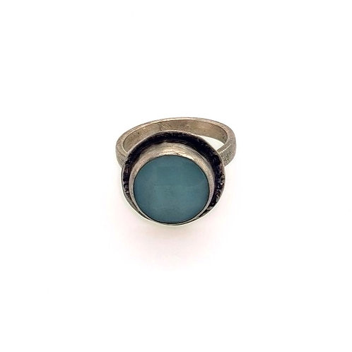 Aqua Chalcedony & Sterling Silver Ring - J & I Jewelry