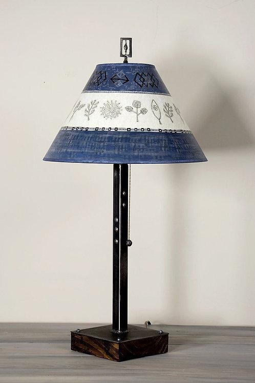 Table Lamp - Steel & Wood