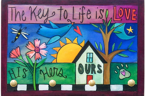 """Sincerely Sticks - """"Key To Life"""" Key Ring Plaque"""