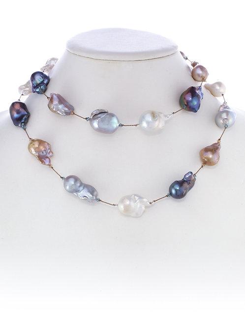 Margo Morrison - Multi-color Baroque Pearl Necklace