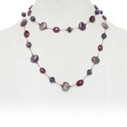 Ruby & Dark Chocolate Moonstone Necklace