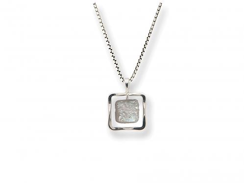 """Zenith"" Pendant - Sterling Silver & Pearl"