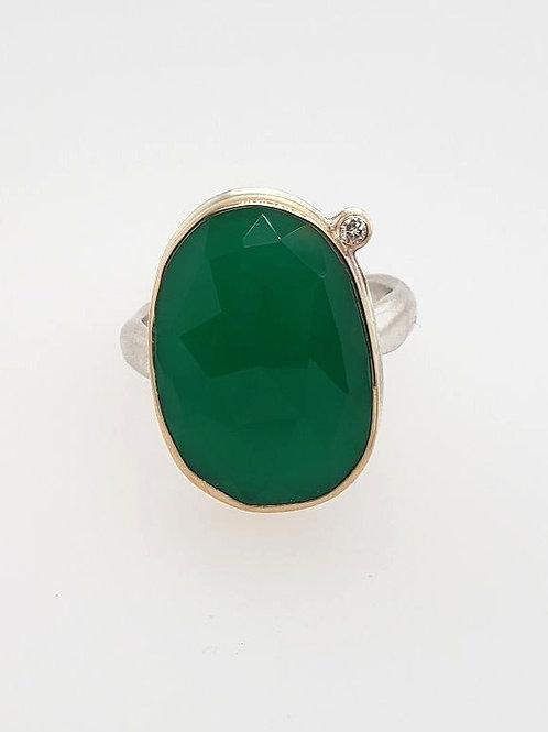 Green Onyx & Diamond Ring - Jamie Joseph