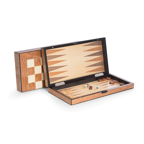 Backgammon Set - Inlaid & Lacquered Wood