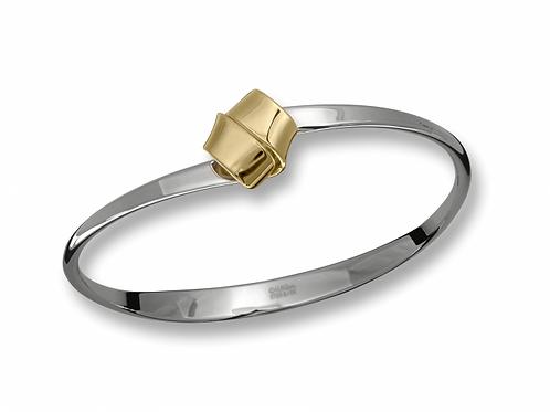 """Love Knot"" Bracelet - Sterling Silver & 14kt Gold"