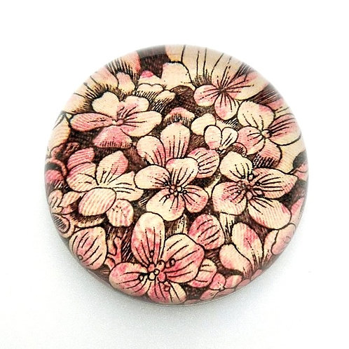 John Derian - Pink Hydrangea Dome Paperweight