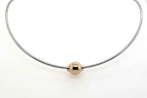 """Cape Cod"" Omega Necklace - 14kt Ball"