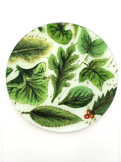 "John Derian - 8""  Round Leaf Collage Plate"