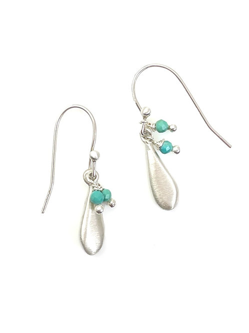 Philippa Roberts - Sterling Silver & Turquoise Tiny Drop Earrings