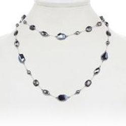 Hyperstine, Black Spinel & Hematite Necklace - Margo Morrison