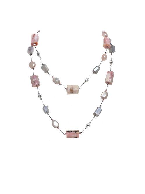 Margo Morrison - Pink Opal & Moonstone Necklace