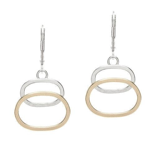 Sterling Silver & 14kt Gold Fill Earrings - J&I
