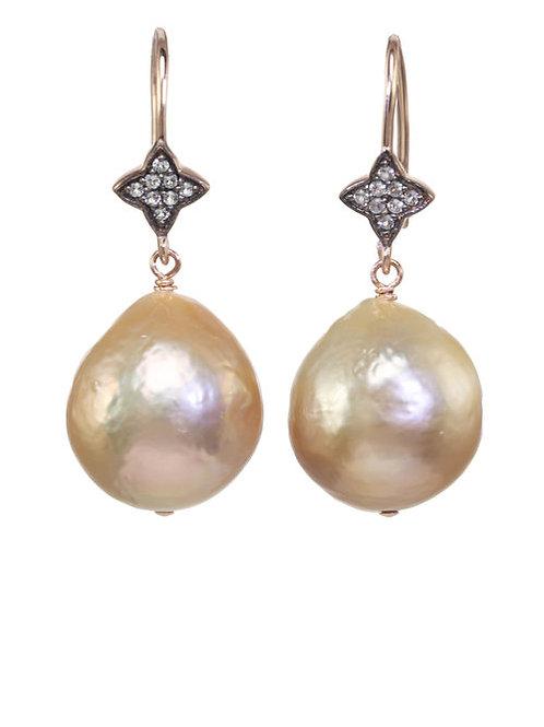 Natural Baroque Pearl Earrings
