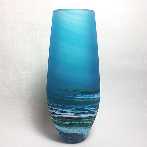 """Teardop Shape """"Seascape"""" Vase (Tall)"""
