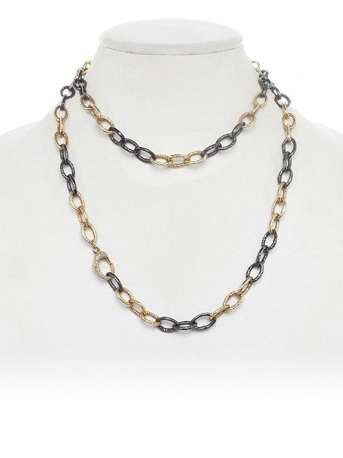 18kt Gold Vemeil & Sterling Silver Link Necklace - Margo Morrison