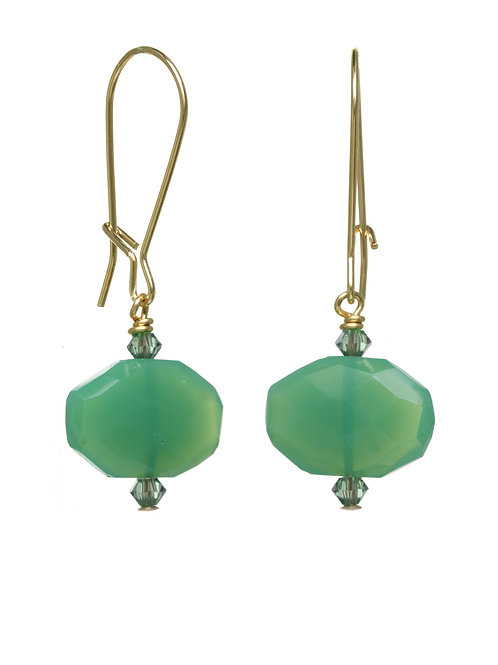 Margo Morrison - Chrysoprase & 14kt Gold Fill Wire Earrings