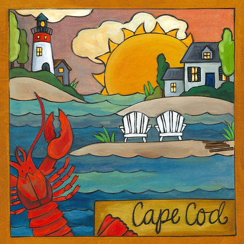 """Cape Cod"" Wood Plaque"