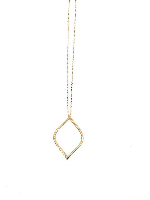 Pear Shape 14kt Gold & Diamond Pendant