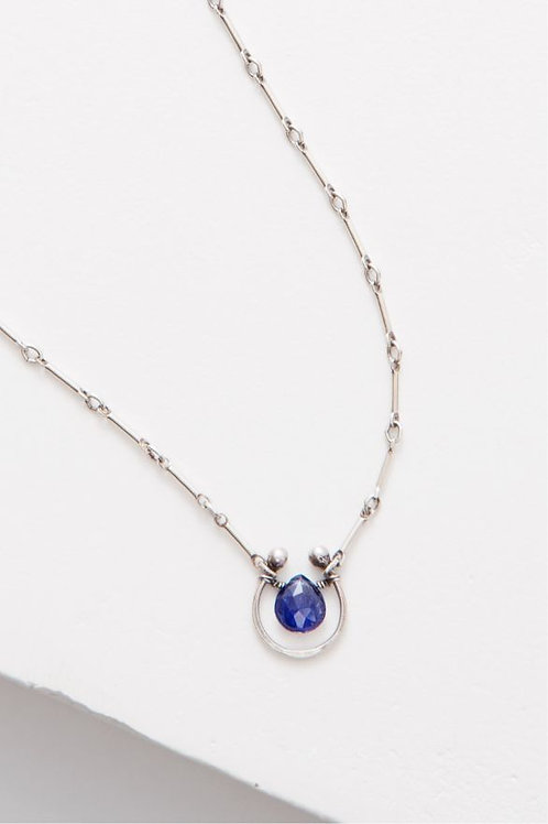 """Horseshoe"" Necklace - Sterling Silver & Lapis"