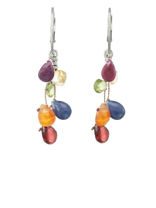 Margo Morrison - Multi Gemstone Teardrop Earrings