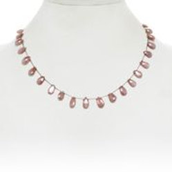 Peach Moonstone Necklace - Margo Morrison