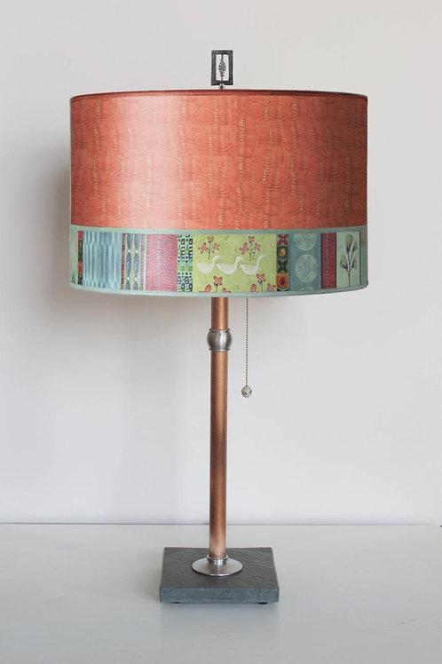 Table Lamp - Copper & Slate