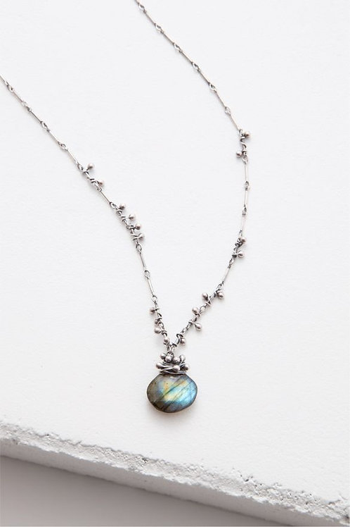 "Small ""Swarm"" Necklace - Labradorite & Sterling Silver"