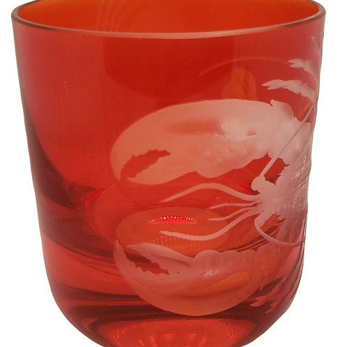 """Lobster"" Crystal Votive - Artel"