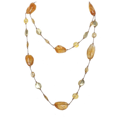 Margo Morrison - Citrine & Vermeil Bead Necklace