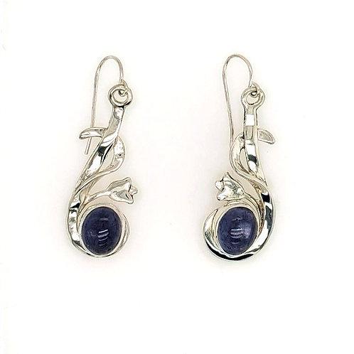 Iolite & Sterling Silver Earrings