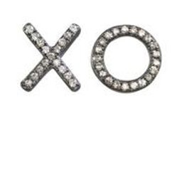 """X"" & ""O"" Pave Diamond Earrings - Margo Morrison"