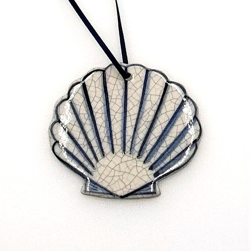 Scallop Shell Handcrafted Clay Ornament