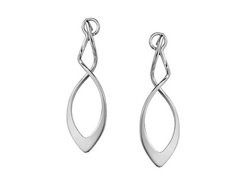 """Feather"" Earrings - Sterling Silver - Ed Levin Studio"