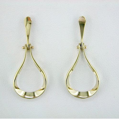 """""""Doorknocker"""" Earrings - 14kt Gold"""