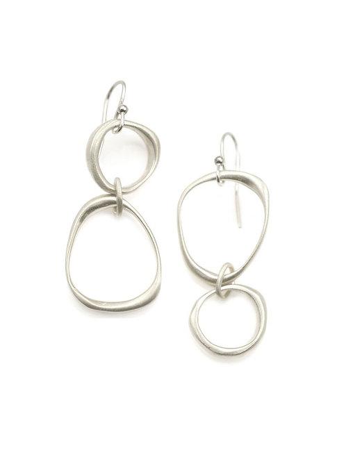 Large & Small Organic Circle Earrings - Philippa Roberts