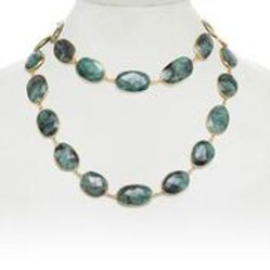 Faceted Raw Emerald Necklace